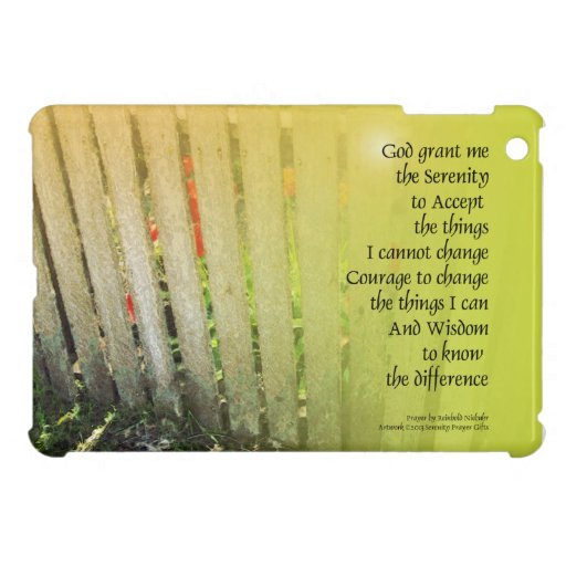 The Serenity Prayer Old Fence Red Tulips Case For The iPad Mini