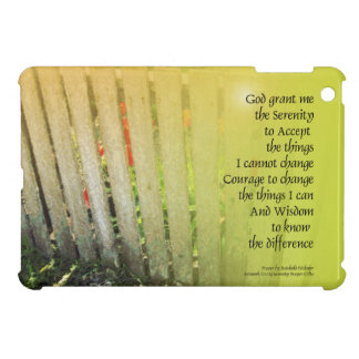 The Serenity Prayer Old Fence Red Tulips iPad Mini Cover