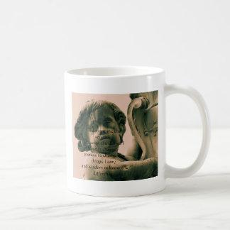 The Serenity Prayer on vintage angel photograph Coffee Mugs