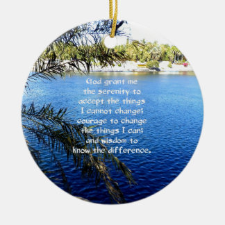 The Serenity Prayer Double-Sided Ceramic Round Christmas Ornament