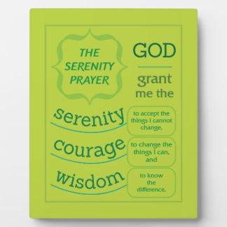 The Serenity Prayer Plaque