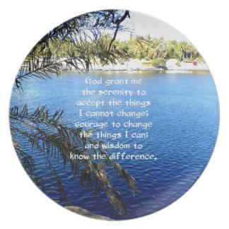 The Serenity Prayer Plate