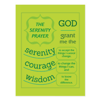 The Serenity Prayer Postcard