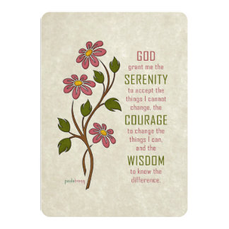 The Serenity Prayer (Recovery Quote) Card