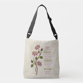 The Serenity Prayer (Recovery Quote) Crossbody Bag