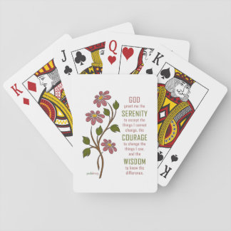 The Serenity Prayer (Recovery Quote) Playing Cards