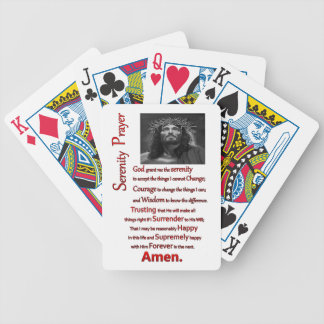 The Serenity Prayer Red Bicycle Playing Cards