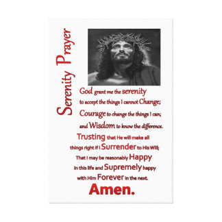 The Serenity Prayer Red Canvas Print