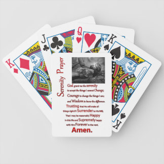 The Serenity Prayer Red Hammer Bicycle Playing Cards