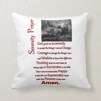 The Serenity Prayer Red Hammer Throw Pillow
