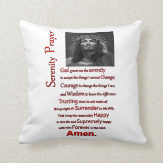 The Serenity Prayer Red Throw Pillow