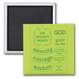 The Serenity Prayer Refrigerator Magnet