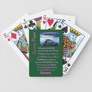 The Serenity Prayer Sea View Bicycle Playing Cards
