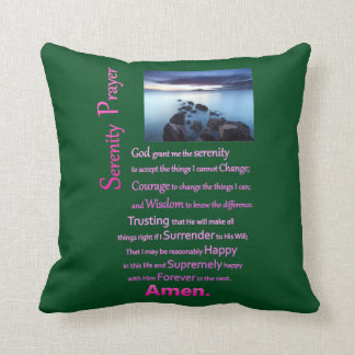 The Serenity Prayer Sea View Throw Pillow