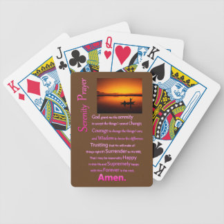 The Serenity Prayer Silhouette Big Catch Bicycle Playing Cards