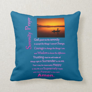 The Serenity Prayer Silhouette Big Catch Throw Pillow