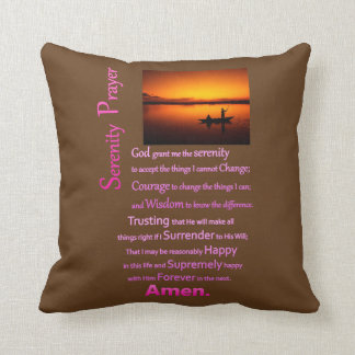 The Serenity Prayer Silhouette Hands Throw Pillow