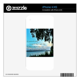 The Serenity Prayer Skin For iPhone 4S