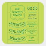 The Serenity Prayer Square Sticker