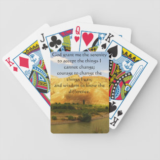 The Serenity Prayer with beautiful mountain photo Bicycle Playing Cards