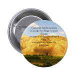 The Serenity Prayer with beautiful mountain photo Pinback Button