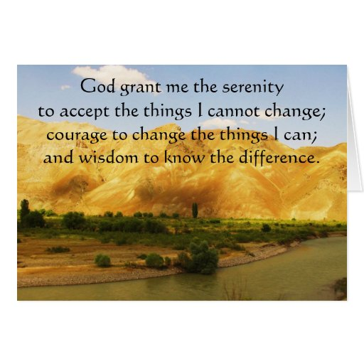 The Serenity Prayer with beautiful mountain photo Cards