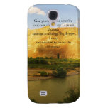 The Serenity Prayer with beautiful mountain photo Samsung Galaxy S4 Cover