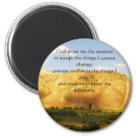The Serenity Prayer with beautiful mountain photo Magnets