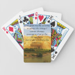 The Serenity Prayer with beautiful mountain photo Bicycle Card Deck