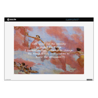 """The Serenity Prayer With Flying Angels Painting 15"""" Laptop Decal"""