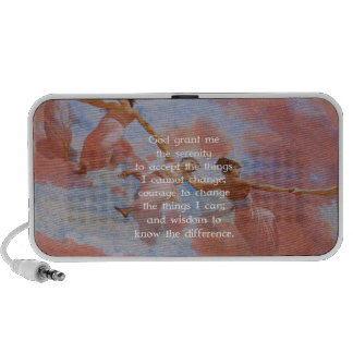 The Serenity Prayer With Flying Angels Painting Mp3 Speaker
