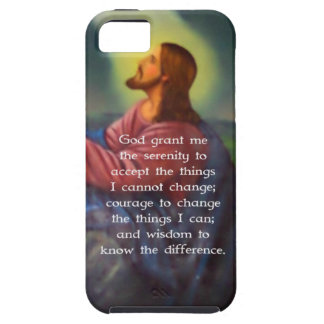The Serenity Prayer With Jesus Christ Painting iPhone 5 Cases