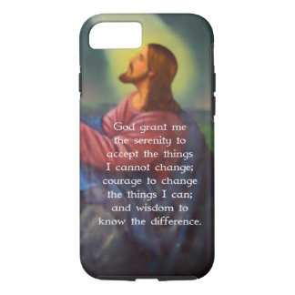 The Serenity Prayer With Jesus Christ Painting iPhone 8/7 Case
