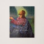 The Serenity Prayer With Jesus Christ Painting Jigsaw Puzzle