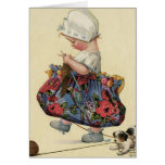 """""""The Serious Knitter"""" Greeting Card"""