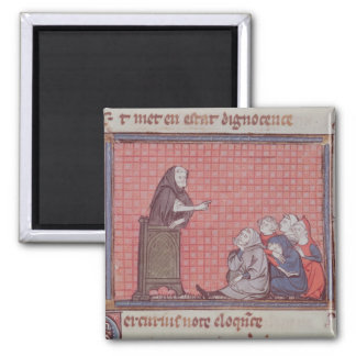 The Sermon, from Ovide Moralise 2 Inch Square Magnet