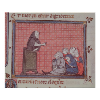 The Sermon, from Ovide Moralise Poster