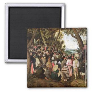 The Sermon of St. John the Baptist 2 Inch Square Magnet