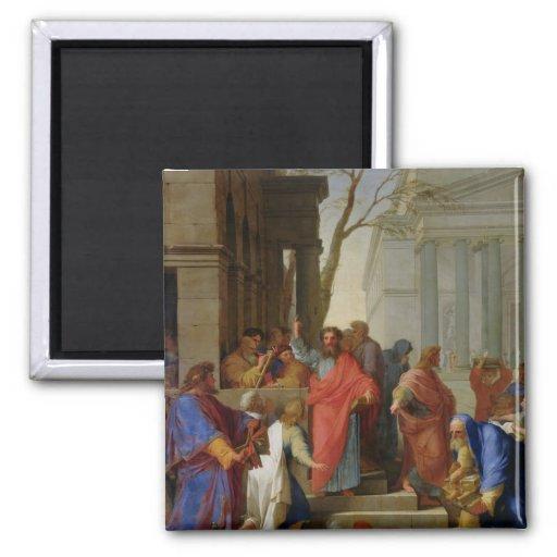 The Sermon of St. Paul at Ephesus, 1649 Magnet
