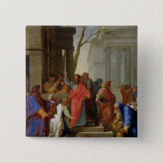 The Sermon of St. Paul at Ephesus, 1649 Pinback Button