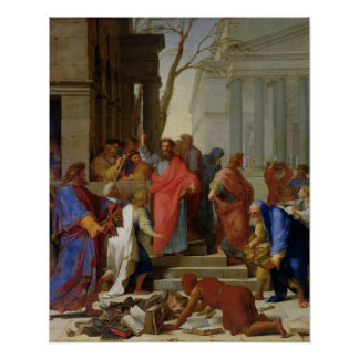 The Sermon of St. Paul at Ephesus, 1649 Poster