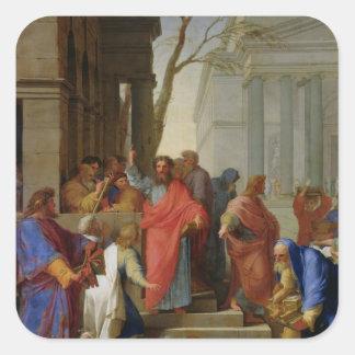 The Sermon of St. Paul at Ephesus, 1649 Sticker