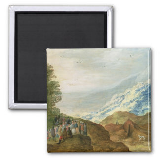The Sermon on the Mount 2 Inch Square Magnet