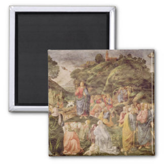 The Sermon on the Mount, from the Sistine 2 Inch Square Magnet