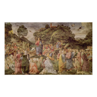 The Sermon on the Mount, from the Sistine Poster