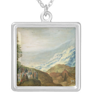 The Sermon on the Mount Silver Plated Necklace