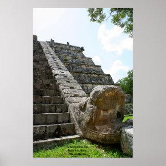 The Serpent, Chichen Ixta, Mayan Ruins, Mexico Poster