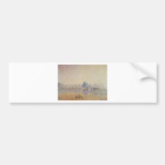 The Serpentine, Hyde Park, Fog Effect by Camille Bumper Sticker