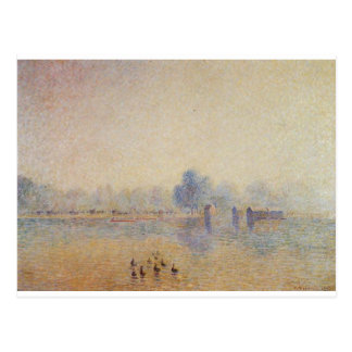 The Serpentine, Hyde Park, Fog Effect by Camille Postcard
