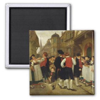 The Servants' Fair at Bouxwiller Magnet